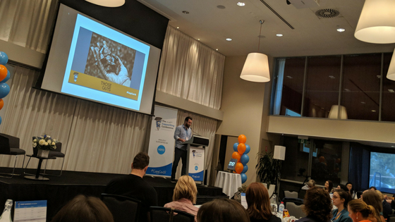 CopyCon 2018 Chris Moriarty giving his tips on getting comfortable in the muck