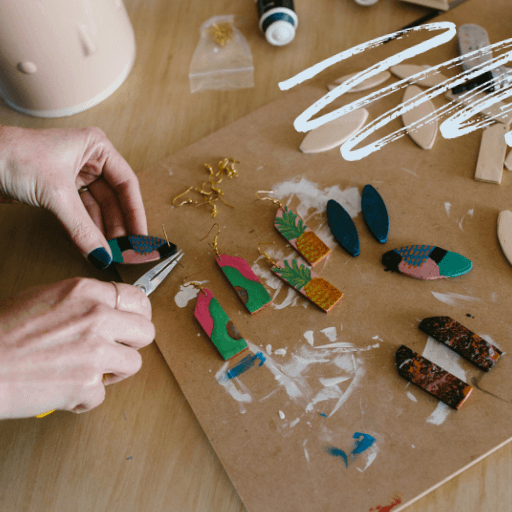 Earring making - Ali Strachan