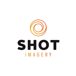 Shot imagery logo white